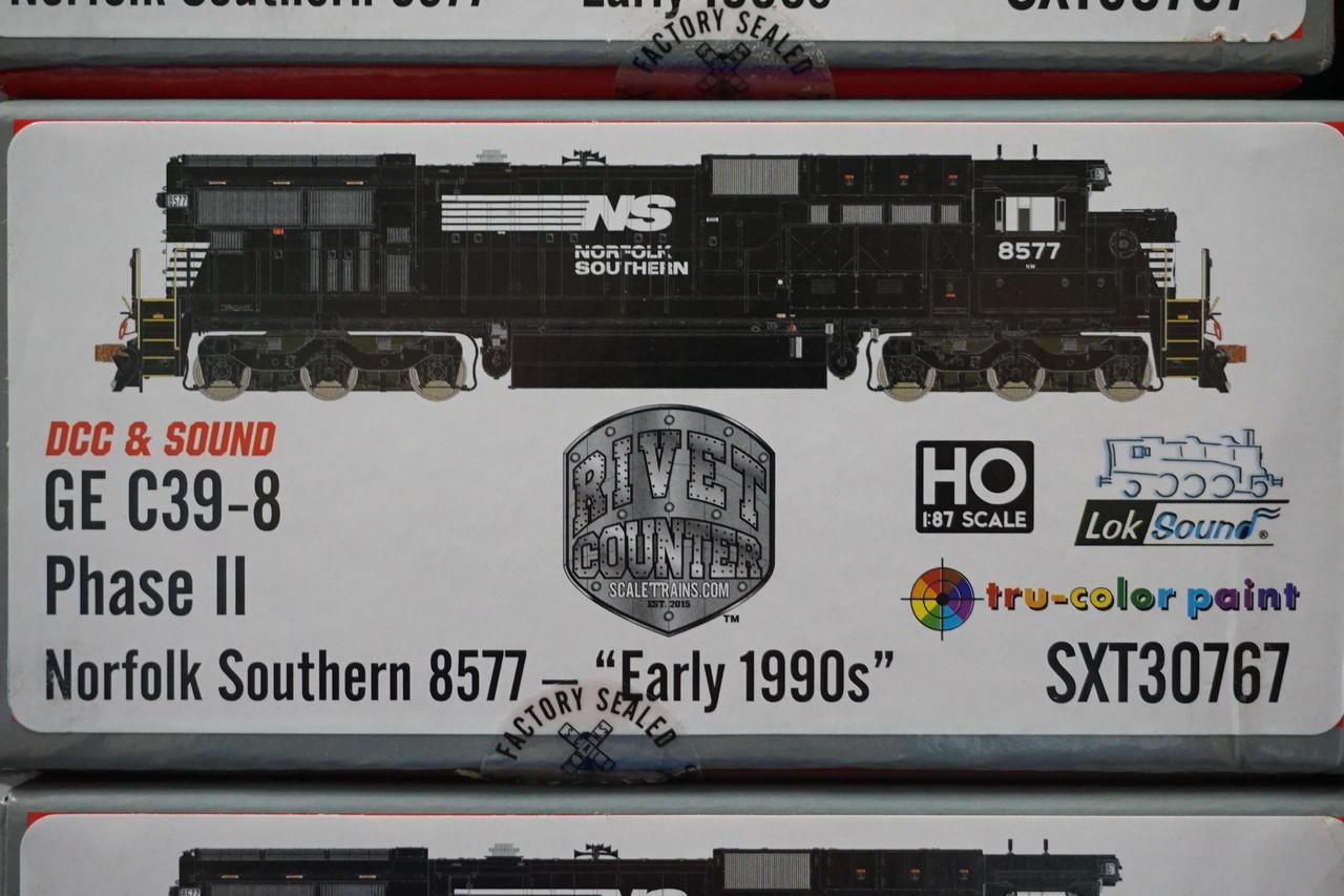 SXT30767 GE C39-8 Norfolk Southern #8577 Rivet Counter ScaleTrains  (SCALE=HO)  Part # 8003-SXT30767
