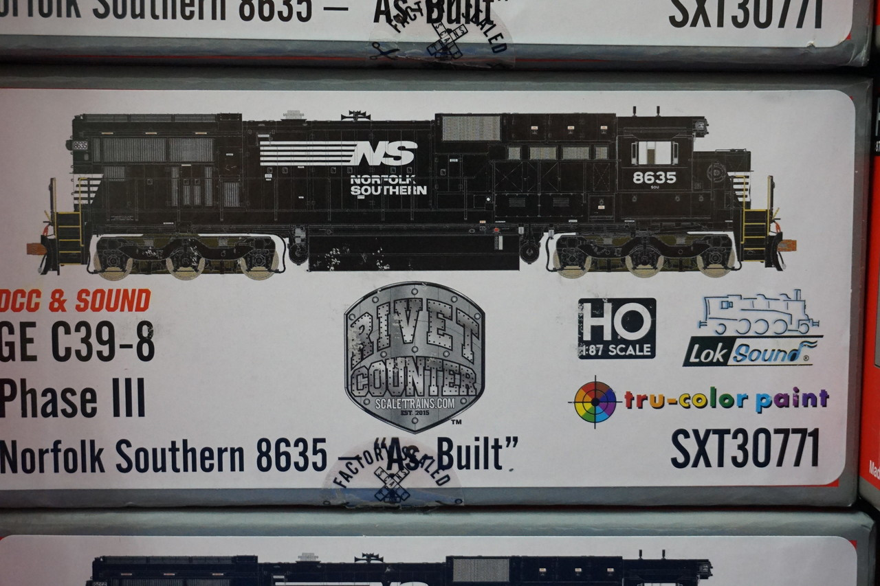 SXT30771 GE C39-8 Norfolk Southern #8635 Rivet Counter ScaleTrains  (SCALE=HO)  Part # 8003-SXT30771