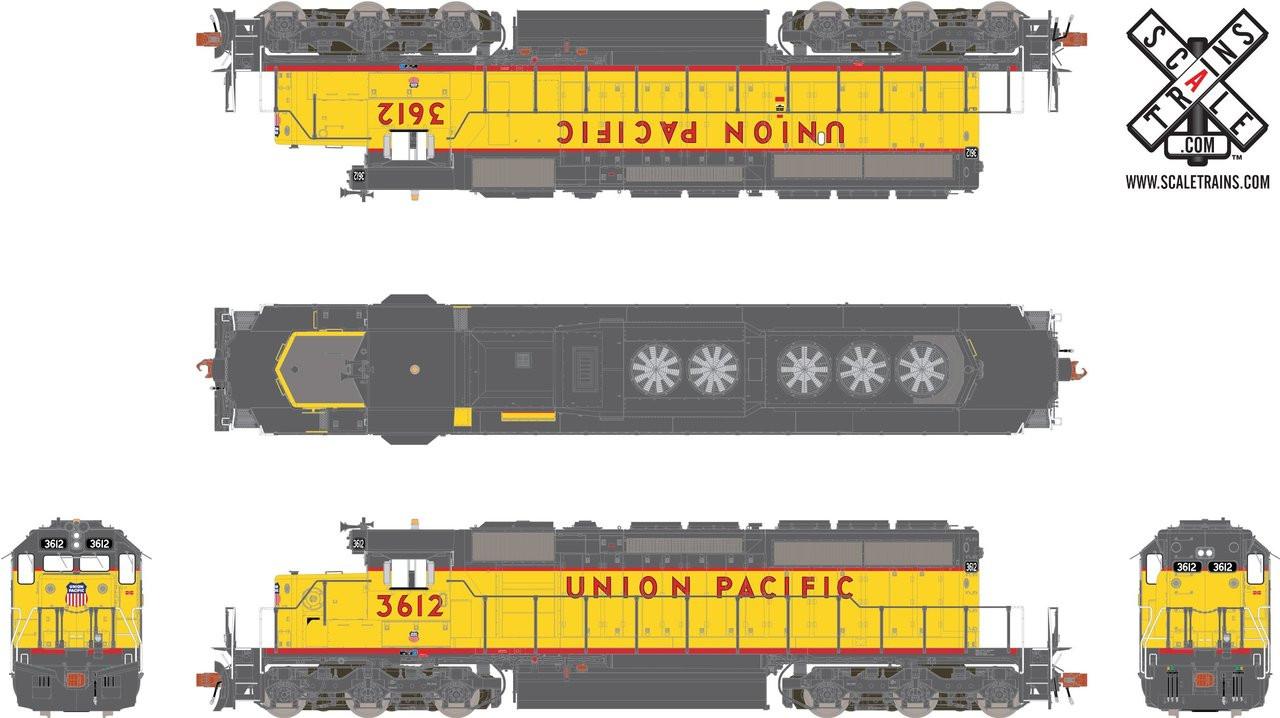 SXT30725 SD40-2 UP Union Pacific #3612 ESU LokSound DCC & Sound Rivet Counter ScaleTrains  (SCALE=HO)  Part # 8003-SXT30725