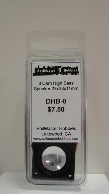 DHB-8 Rail Master / Speaker 28 x 28 x 11.2 mm 8 Ohm (Scale=HO) Part # = RMT-DHB8