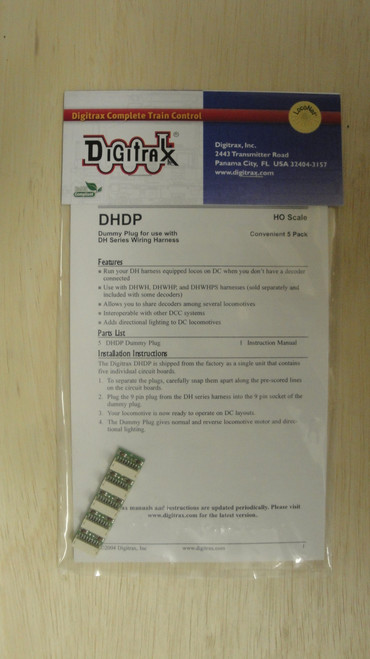 DHDP Digitrax / DC Dummy Plugs 5/  (Scale = HO)  Part # 245-DHDP