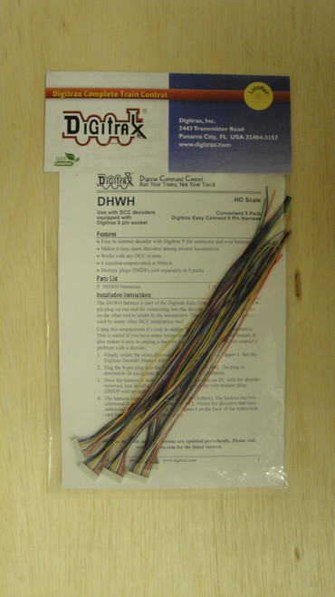 DHWH Digitrax / Digitrax Harnesses 5/  (Scale = HO)  Part # 245-DHWH