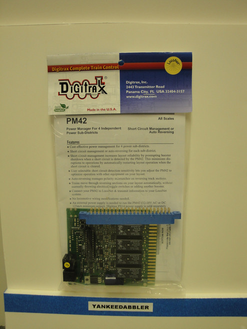 PM42 Digitrax / Quad pwr manager auto rev  (Scale = ALL)  Part # 245-PM42