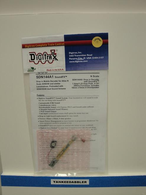 SDN144A1 Digitrax / Decoder Atlas SD50/60  (Scale = N)  Part # 245-SDN144A1