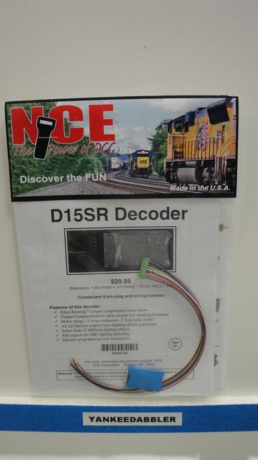 104 NCE /  Silent Running(TM) 1.3 Amp Decoders - (SCALE=HO) Part # = 524-104