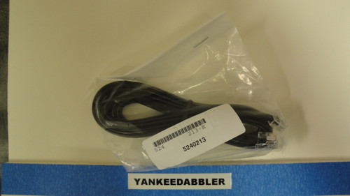 213 NCE /  6-Wire Straight Cab Bus Cable -- RJ (SCALE=ALL) Part # = 524-213