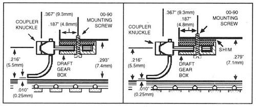 102007 MICRO TRAINS / {00102007} Kato Coupler Conversion -- Fits SD40 - Medium Shank - Assembled (brown) (1016-1-B) 2 Pair  (SCALE=N) - YANKEEDABBLER PART # = 489-102007