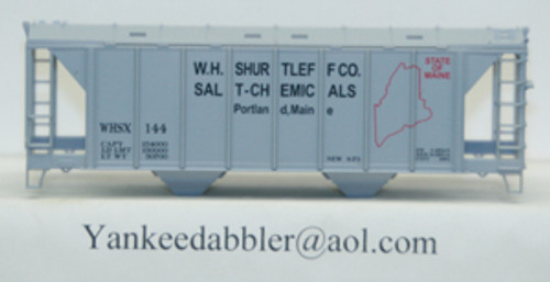 20101 (HO Scale) Yankee Dabbler-67-20101 W.H.Shurtleff Co    Salt-Chemical 70 Ton 2-Bay Cvrd Hopper 20101   144
