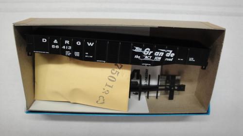 1346-3 (HO SCALE) Bev-Bel-66-1346-3 Denver and Rio Grande 50  Open Steel Gondola D and RGW 56413