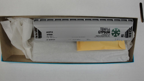 1999 (HO SCALE) Bev-Bel-66-1999 Temple Gypsum and quot;Wagon Wheel Herald and quot; 55  ACF Center ...