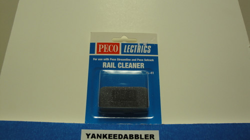 PL-41 Peco / PL-41 Abrasive Rubber Rail Cleaning Block (SCALE=ALL ) Part # PCO-PL-41