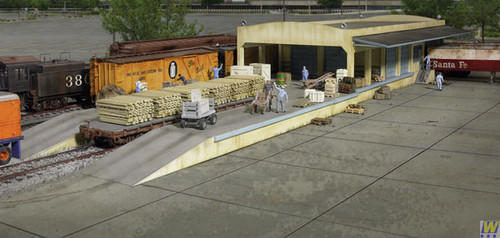 2918 (HO Scale) WAL-933-2918        Open Air Transload Bldg
