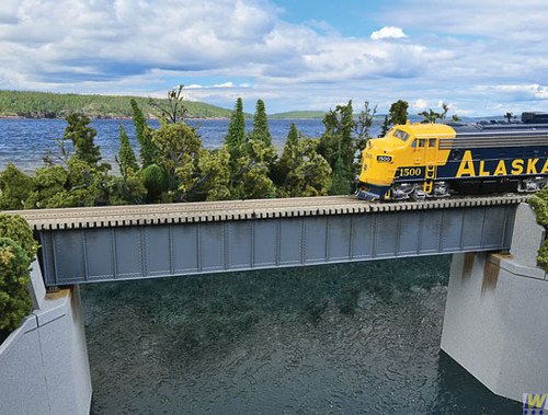 4508 (HO Scale) WAL-933-4508        90' Sgl Trk Deck Grd Brg