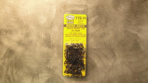 119-25 Kadee / bulk pack of 25  #119 SE Shelf Type All-Metal Whisker(R) Self-Centering Knuckle Couplers 2 Pair -- Kit - Medium Cen  (HO Scale) Part # 38