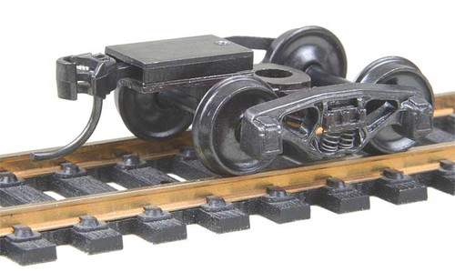 502 Kadee / Bettendorf 50-Ton Trucks with Ready-To-Mount Metal Couplers Metal Fully Sprung Equalized Trucks 1 pair /  (HO Scale) Part # 380-502