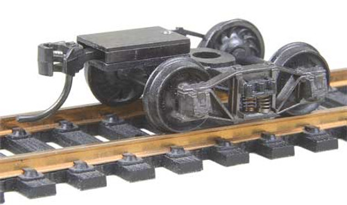 503 Kadee / Arch Bar Trucks with Ready-To-Mount Metal Couplers Metal Fully Sprung Equalized Trucks 1 pair /  (HO Scale) Part # 380-503