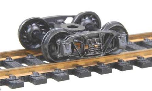 509 Kadee / Andrews (1898) Trucks Metal Fully Sprung Equalized Trucks 1 pair/  (HO Scale) Part # 380-509