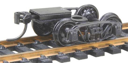 510 Kadee / Andrews (1898) Trucks with Ready-To-Mount Metal Couplers Metal Fully Sprung Equalized Trucks  (HO Scale) Part # 380-510
