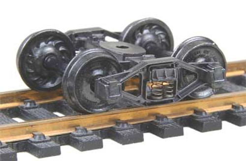 511 Kadee / Bettendorf T-Section Trucks Metal Fully Sprung Equalized Trucks 1 pair /  (HO Scale) Part # 380-511