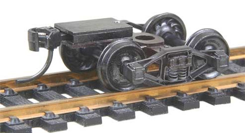 512 Kadee / Bettendorf T-Section Trucks with Ready-To-Mount Metal Couplers Metal Fully Sprung Equalized Trucks 1 pair /  (HO Scale) Part # 380-512