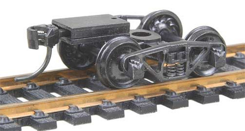 516 Kadee / Vulcan Double Truss Trucks with Ready-To-Mount Metal Couplers Metal Fully Sprung Equalized Trucks 1 pair /  (HO Scale) Part # 380-516