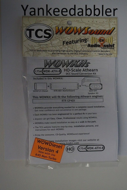 1754 TRAIN CONTROL SYSTEM - TCS /  Athern {WOW WDK-ATH-8} DIESEL Version 4 CONVERSION KIT - HO Scale  YankeeDabbler Part # 745-1754