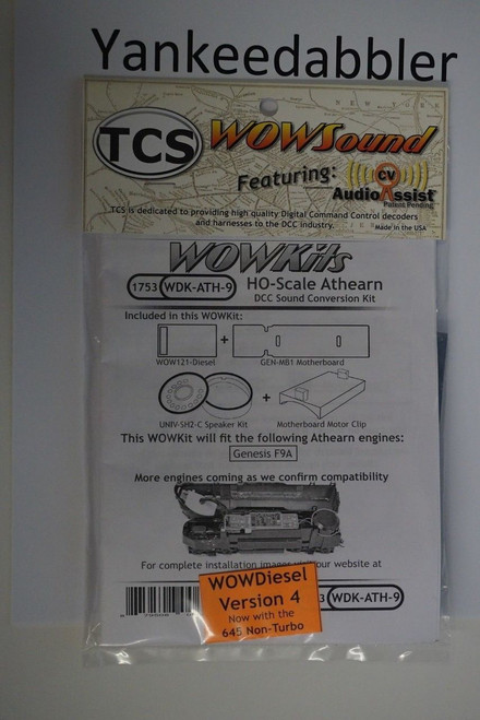 1753 TCS TRAIN CONTROL SYSTEM /  Athern {WOW WDK-ATH-9} DIESEL Version 4 CONVERSION KIT - HO Scale  YankeeDabbler Part # 745-1753