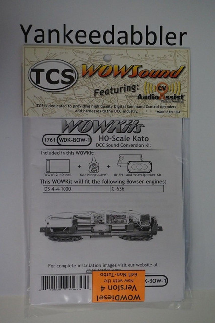1761 TRAIN CONTROL SYSTEM - TCS /  Bowser {WOW WDK-BOW-1} DIESEL Version 4 CONVERSION KIT - HO Scale  YankeeDabbler Part # 745-1761