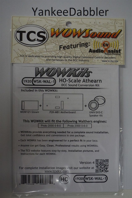 1920 TRAIN CONTOL SYSTEMS (TCS) WALTHERS{WOW WSK-WAL-1} Proto2000 GENSTEAM Version 4 CONVERSION KIT - HO Scale  YankeeDabbler Part # 745-1920