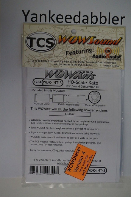 1764 TRAIN CONTROL SYSTEM - TCS /  Intermountain {WOW WDK-INT-3} DIESEL Version 4 CONVERSION KIT - HO Scale  YankeeDabbler Part # 745-1764