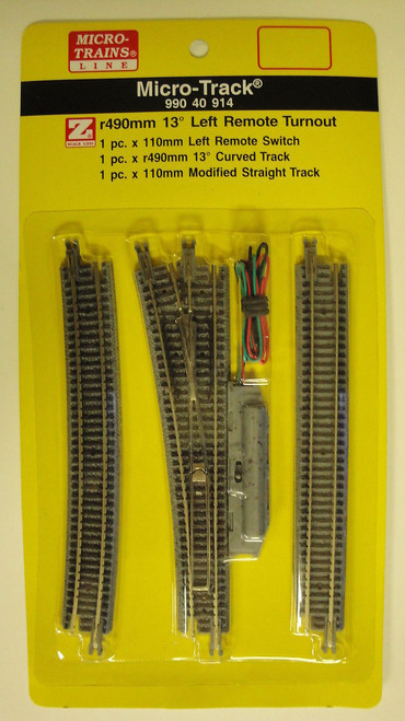 99040914 MICRO TRAINS / {99040914} 13-Degree Left  Remote Turnout   (SCALE=Z)  YANKEEDABBLER  PART #  = 489-99040914