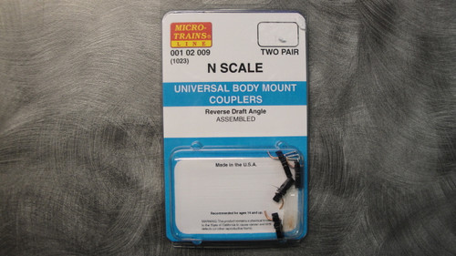 102009 MICRO TRAINS / {001 02 009} UNIVERSAL BODY MOUNT COUPLERS (1023)  (SCALE=N)  - YANKEEDABBLER  PART #  = 489-102009