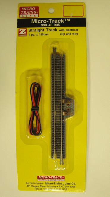 99040905 MICRO TRAINS / {99040905} STRAIGHT TRACK W/ELC CLIP & WIRE  (SCALE=Z)  YANKEEDABBLER  PART #  = 489-99040905