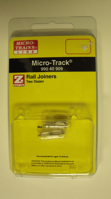 99040909 MICRO TRAINS / {99040909} RAIL JOINERS TWO DOZEN   (SCALE=Z)  YANKEEDABBLER  PART #  = 489-99040909