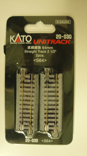 20030 Kato USA Inc / Track straight 64mm    2/  (SCALE=N)  Part # 381-20030