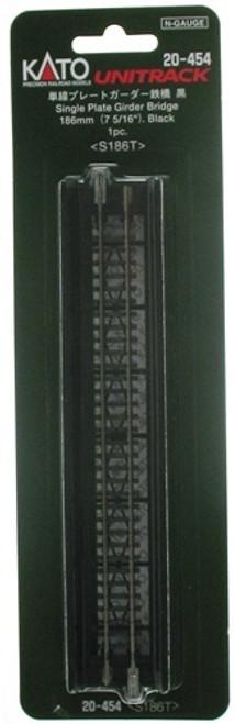 20454 Kato USA Inc / Sgl-Plt Grdr Bdg 7.3- Black  (SCALE=N)  Part # 381-20454