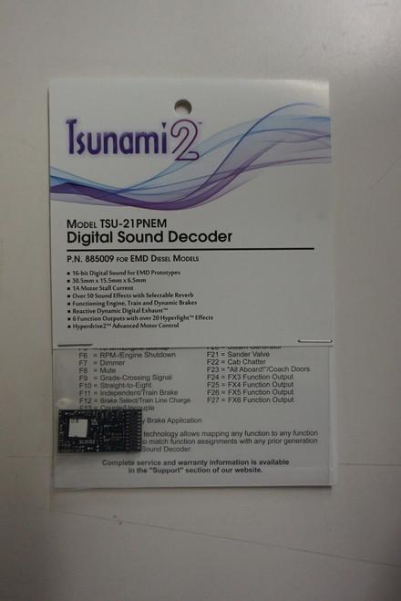 885009 Soundtraxx / Tsunami 2 Diesel EMD Set, 6-Function, Universal TSU-21PNEM (1 Amp) Digital Sound Decoders    (Scale=HO) Part # = 678-885009