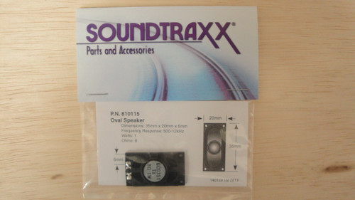 810115 Soundtraxx /  35mm x 20mm Oval, 8 Ohm Speake (SCALE=ALL) Part # = 678-810115