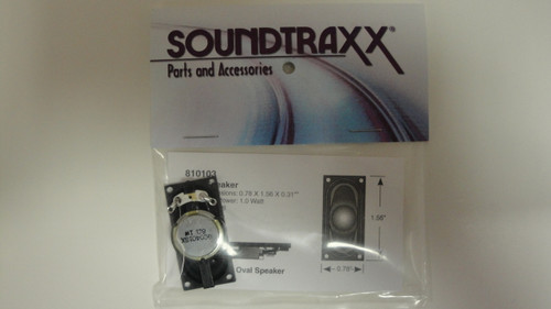 810103 Soundtraxx /  40mm x 20mm Oval, 8 Ohm Speake (SCALE=ALL) Part # = 678-810103