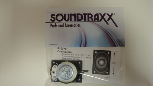 810078 Soundtraxx /  40mm x 28.5mm Oval, 8 Ohm Spea (SCALE=ALL) Part # = 678-810078