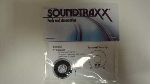 810054 Soundtraxx /  28mm Round, 8 Ohm Speaker SPEA (SCALE=ALL) Part # = 678-810054