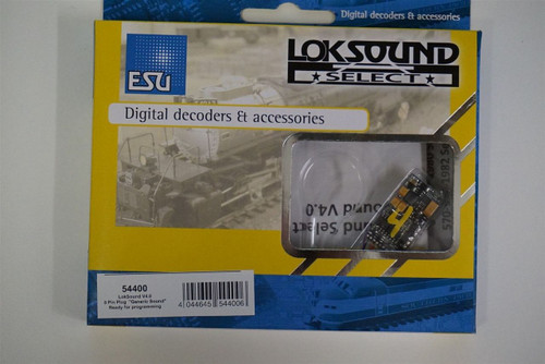 "54400 ESU LokSound /  V4.0 ""Universal sound for reprogramming"", with 8-pin NEM652 interface, Gauge: 0, H0 54499 LokSound V4.0 Part # ESU-54400"