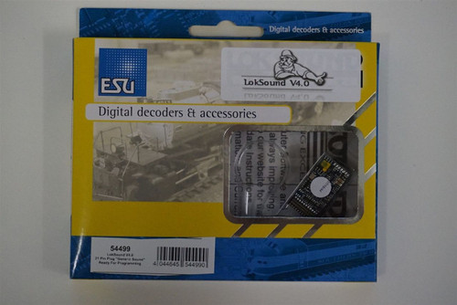 54499 ESU LokSound LokSound V4.0 Sound & Control Decoder for DCC, Motorola & Selectrix Systems -- With 21MTC Plug Blank - No Preprogrammed Sounds (HO Scale) Part # 397-54499