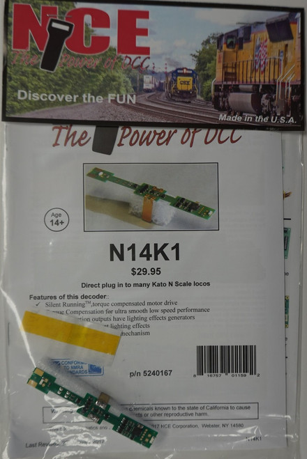 167 NCE -  N Scale Decoder Kato Part # 524-167