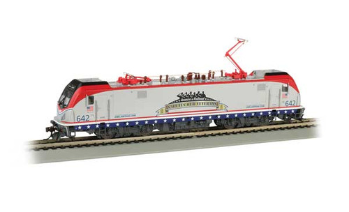 Bachmann 67403 /   AMTRAK ELECTRIC LOCOMOTIVE Cities Sprinters for Northeast Corridor ACS-64    #642 SALUTES OUR VETERANS TCS WOW CD Quality, Keep-Alive, TCS Audio Assist Lighting including Ditch Lights (SCALE=HO) Part # 160-67403 Pantograph extension & retraction