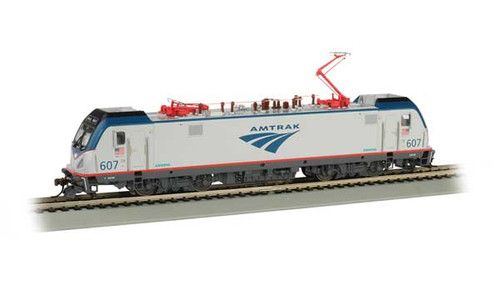 Bachmann 67401/   AMTRAK ELECTRIC LOCOMOTIVE Cities Sprinters for Northeast Corridor ACS-64  #607  TCS WOW CD Quality SOUND, Keep-Alive, TCS Audio Assist, Lighting including Ditch Lights (SCALE=HO) Part # 160-67401 Panogram extension & retraction