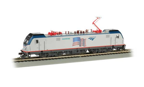 Bachmann 67404 /  AMTRAK ELECTRIC LOCOMOTIVE Cities Sprinters for Northeast Corridor ACS-64   FLAG DEMO  TCS WOW CD Quality SOUND, Keep-Alive, TCS Audio Assist, Lighting including Ditch Lights (SCALE=HO) Part # 160-67404  Pantograph extension & retraction