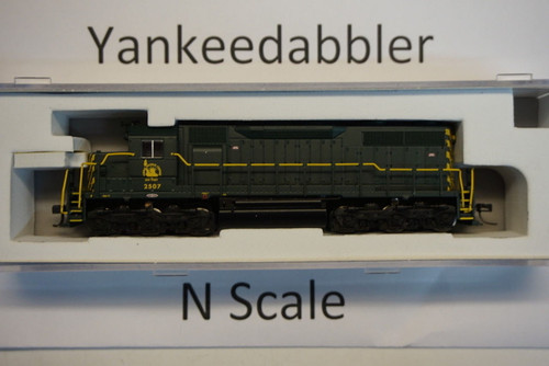 ATLAS 40003729 / EMD SD35 Low Nose - LokSound & DCC - Master(R) Gold -- Central Railroad of New Jersey 2507 (green, yellow)  Atlas Model Railroad Co.  - (SCALE=N) Part # 750-40003729