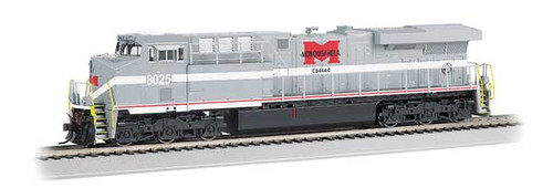 Bachmann 65407 / GE ES-44AC DCC & Soundtraxx Value SOUND w/working ditch lights Norfolk Southern #8025 (Monongahela Heritage, gray, white, red)  HO Scale Part #  =  160-65407