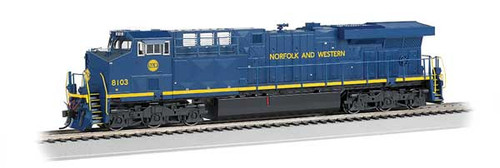 Bachmann 65408 / GE ES-44AC DCC & Soundtraxx Value SOUND w/working ditch lights  Norfolk Southern #8103 (Norfolk & Western Heritage, blue, yellow)  HO Scale Part #  =  160-65408